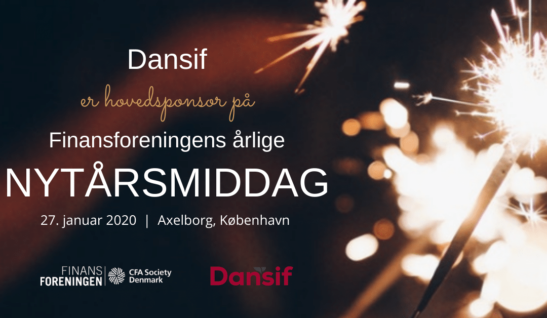 Dansif er stolt hovedsponsor for Finansforeningen/CFA Society Denmarks årlige Nytårsmiddag den 27. januar
