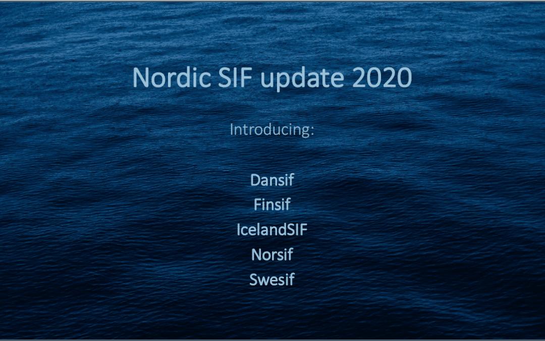 Fælles præsentation om de nordiske SIF'er